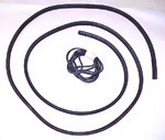 1972 Rear glass gasket kit, with black filler strip