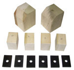 1946 Bed mounting blocks and pads only, short bed