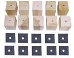 1946 Bed mounting blocks and pads, long bed