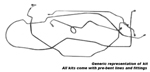 1958 Manual drum brake lines, full set