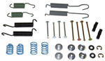1965 Brake hold down kit and return springs, front