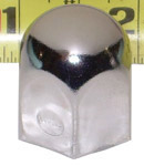 1970 Lug nut cover, chrome