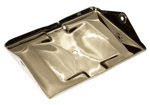 1957 Battery tray only, stainless steel