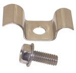 1971 Battery tray A/C bracket clip, stainless steel