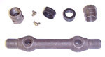 1973 Control arm rod and bushings, front