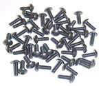 1947 Clutch head windlace retainer screw set, approximately 50 8-32x1/2 inch clutch truss head machine screws