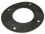 1942 Flat rubber to fit under gas filler neck ring retainer, replaces the original leather