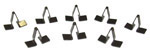 1956 Dash clips for top strip at base of windshield, set of 8