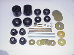 1971 Cab and radiator core support mount kit, urethane