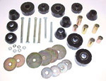 1975 Cab and radiator core support mount kit, urethane