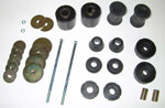 1967 Cab and radiator core support mount kit, Urethane