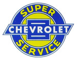 1949 Advertising sales and service decal, Chevrolet