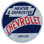 1955 Factory heater decal, fresh air heater