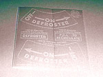 1949 Heater instruction decals, fresh air and recirculator heater