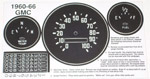 1963 Gauge cluster refacing decals, GMC