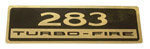 1961 Valve cover decal, 283 Turbo-Fire