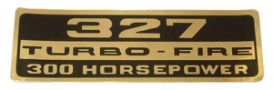 1962 Valve cover decal, 327 Turbo-Fire 300