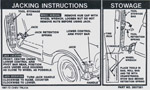 1970 Jacking instruction decal