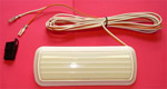 1972 Dome light assembly, plastic white/ivory base
