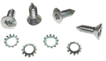 1948 Outside door handle clutch head chrome screws with lock washers, as original
