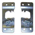 1970 Door striker plates, pair