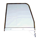 1957 Door window glass assembly, clear window glass