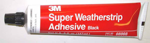 1943 Door weather seal adhesive, 3M black glue