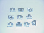 1942 Beaded window seal clips, set of 10