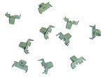 1964 Beaded window seal clips, set of 10