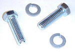 1952 Motor mount bolts (2) and washers (2), side motor mounts to engine/bellhousing