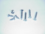 1962 Screw set for both vent windows, set of 8 items
