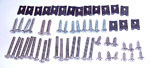 1972 Exterior lighting screw set, includes screws for the deluxe mirror arms