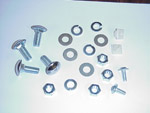 1973 Mounting kit for rear license plate bracket and lamp