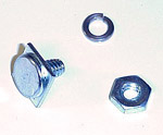 1944 Hood side trim fastener, threaded with nut and split washer