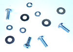 1955 Fastener set for hood latch, Chevrolet only