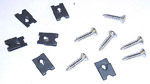 1966 Headlight bezel screw and clip set, Chevrolet