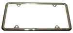 1966 License plate frame, chrome
