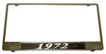 1972 License plate frame, chrome plated