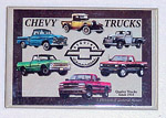 1980 Refrigerator magnet, Chevy Trucks tribute