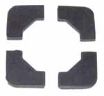 1940 Battery hold-down pads, set of 4