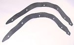 1942  Running board to fender gaskets, front pair only