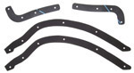 1940 Running board to fender gaskets, front and rear set
