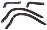 1942 Running board to fender gaskets, front and rear set