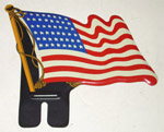 1978 United States metal flag, 48 stars