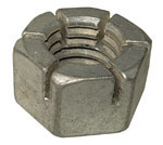 1943 Bumper bolt locking nut only, castilated