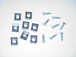 1953 Hood lace retainer clips, set of 8 clips and 8 screws