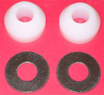 1936 Nylon spacer and washer for end bumper bolts, Chevrolet