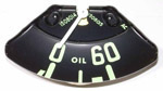 1955 Oil pressure gauge, 60 PSI