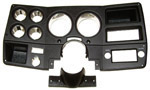 1976 Gauge cluster housing, black with chrome trim