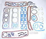1965 Full engine gasket set, 283 V8 engine